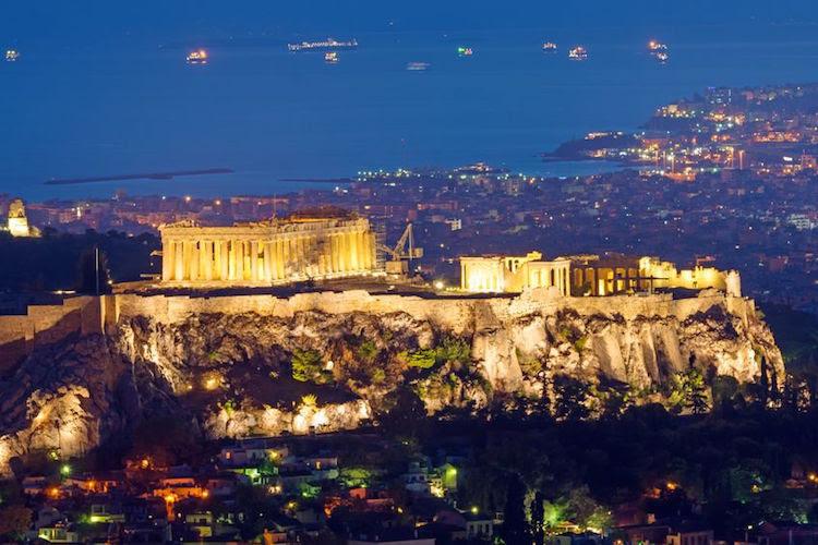 Athen bei Nacht